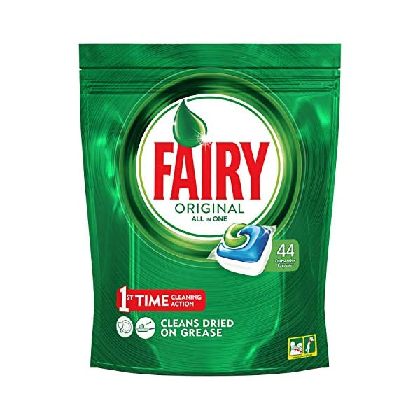 Fairy, Pastillas lavavajillas original limón, 125 cápsulas todo en 1 (5 x 25)