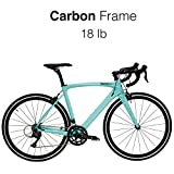 HeartsBio Carbon Frame Road Bike Model H – Carbon Fiber Racing Bicycle with SORA 18 Speed Derailleur System (50 : Rider Height 5'5'~5'7')