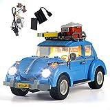 GEAMENT Juego de luces para Volkswagen Beetle Building Blocks modelo compatible con Lego Creator Expert 10252 VW Car (juego Lego no incluido)