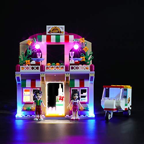 BRIKSMAX Kit de Iluminación Led para Lego Friends Pizzería de heartlike,Compatible con Ladrillos de Construcción Lego Modelo 41311, Juego de Legos no Incluido