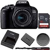 Canon EOS 800D/Rebel T7i Digital SLR Camera with 18-55 is STM Lens Black + 16GB Memory Card