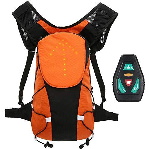 Lixada Sac À Dos Réfléchissant Léger USB Rechargeable avec LED Signal Light en Plein Air Sport Sac de Sécurité Gear pour Cyclisme Courir Marche Jogging 5L