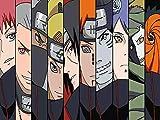 JHGJHK Anime japonés Naruto Sasuke Naruto Kakashi Personaje Pintura al óleo, fanáticos del Anime decoración del hogar Pintura al óleo (7)
