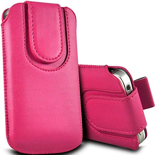 Digi Pig Pink PU Leder Pull Tab Tasche mit Magnetverschluss Klappe für Doro Phone Easy 508