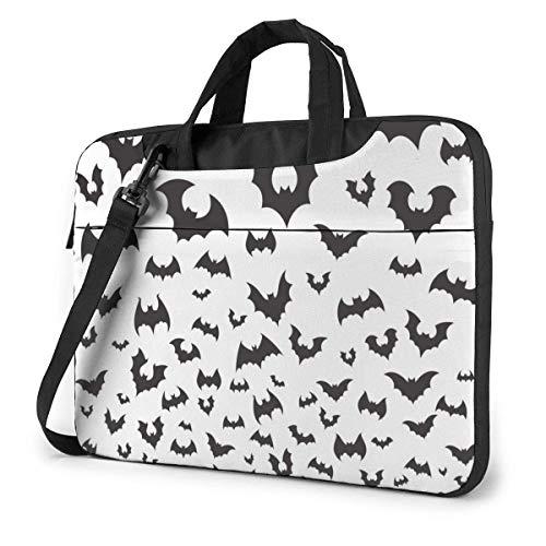 Halloween Black Bat Migration Flight 15.6 in Laptop Bag Anti-Collision Notebook Computer Protective Cover Handbag Shoulder Bag