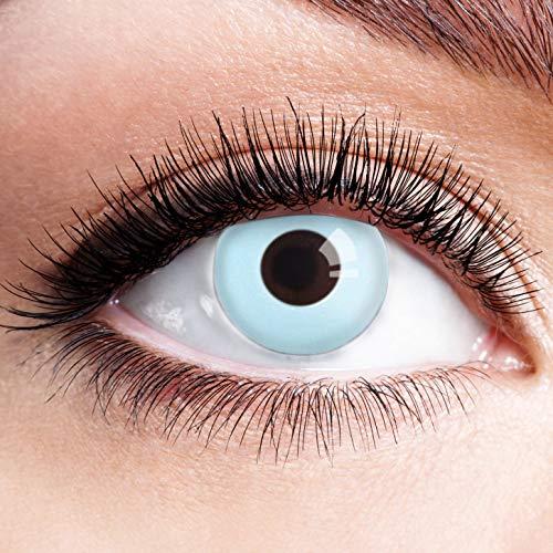 Farbige Kontaktlinsen Blau Ohne Stärke Blaue Crazy Jahreslinsen Motiv Linsen Farbig Halloween Karneval Fasching Cosplay Kostüm Light Ice Blue Sky Weiß Hellblau M13