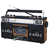 SuperSonic SC-3201BT Retro Radio and Bluetooth Speaker: Built-in Analog Music to Digital Files Converter