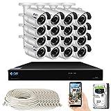 GW Security Smart AI 16 Channel H.265 PoE NVR Ultra-HD 4K