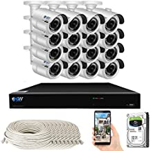 GW Security Smart AI 16 Channel H.265 PoE NVR Ultra-HD 4K (3840x2160) Security Camera System with 16 x 4K (8MP) 2160P Face Recognition / Human / Vehicle Detection Outdoor Indoor Surveillance IP Camera