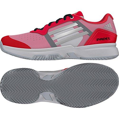 adidas Sonic Court W Padel, Zapatillas de Tenis Mujer, Rojo/Plateado/Blanco (Rojimp/Plamat/Ftwbla), 37 1/3
