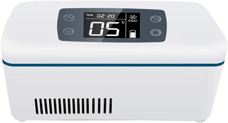 AMhuui Autokühlschrank Mini Insulin Cooler, Portable Insulin Cooler Kühlbox LCD-Display für die Heimreise