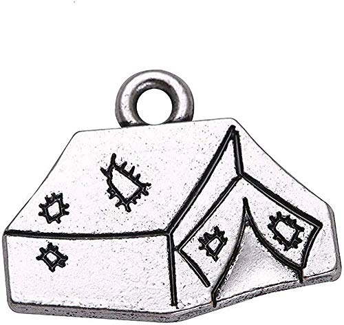 LBBYMX Co.,ltd Halskette Mode 1Stk Camp Serie Zelt Charme Camping Anhänger Fit DIY Halsketten und Armbänder Schmuck Accessoires Make Findings