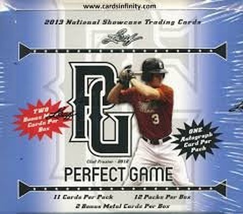 2013 Leaf Perfect Game Baseball Cards Hobby Box (12 Autographs Per Box + 2 Metal Cards) - Possible Autograph Patch Cards, 1of1's and more
