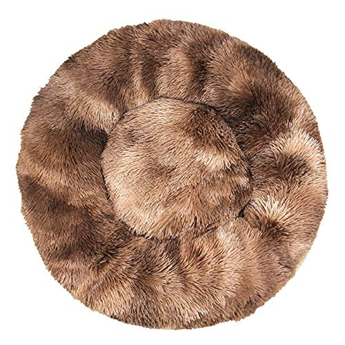 Cama para perros supersuave, redonda, lavable, de felpa, para perros, gatos, felpa, felpa, para chihuahua, canasta, cama para mascotas (color: H, tamaño: XXL 80 cm)