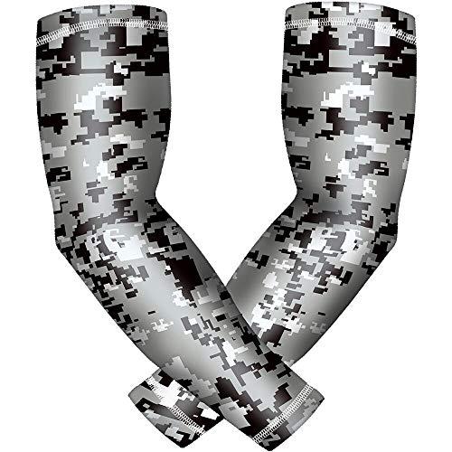 Ellenbogen-Kompressionsarmmanschette für Männer und Frauen, 2 Stück/Packung, Jugendliche und Erwachsene, 6 Größen, Baseball, Fußball, Basketball, Sport - Grün - Large