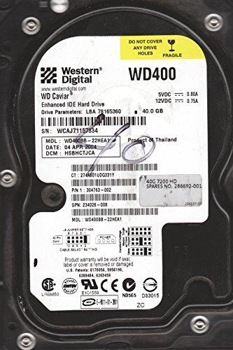 WD400BB-22HEA1, DCM HSBHCTJCA, Western Digital 40GB IDE 3.5 dysk twardy