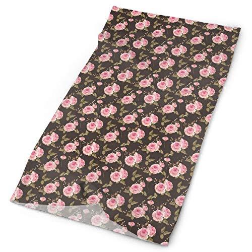 Headwear Headband Head Scarf Wrap Sweatband,Vintage Style Gentle English Rosebud Bouquets Romantic Nostalgic Garden Theme,Sport Headscarves for Men Women