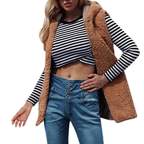 Vrouwen Faux Bont Vest Jas Hooded Dikke Gilet Elegante, Dames Mouwloos Winter Lichaam Warm Shrug Jas Cape Poncho Waistcoat Bovenkleding Sweater Plus Size
