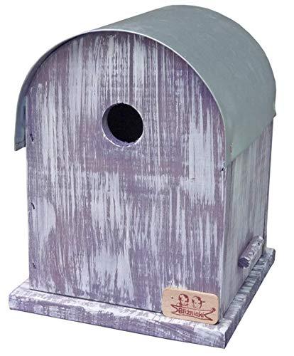 Bliźniaki BL75 FNPT Nistkästen Für kleine Vögel Blaumeise Tannenmeise Sumpfmeise Haubenmeise Meisennistkastens, FI 2.8 cm Futterhaus Vogelhaus Nisthaus Nistkasten (Lila(BL75 FNPT))