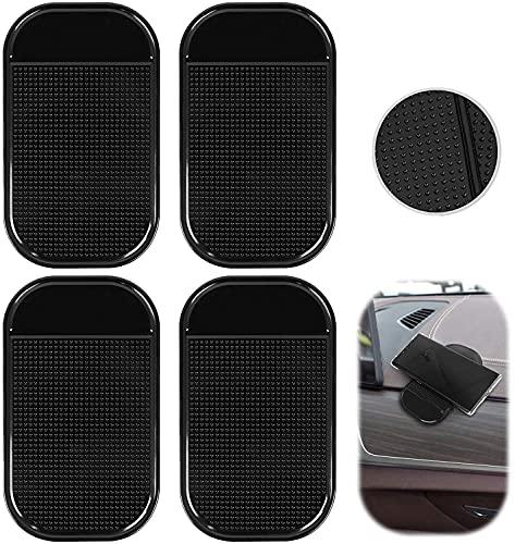 Handy Smartphone Auto Halterung Premium Antirutschmatte mit starker Haftung KlebeMatte Haftmatte, Antirutschmatte Auto Armaturenbrett, Anti-Rutsch Pad(4PCS)