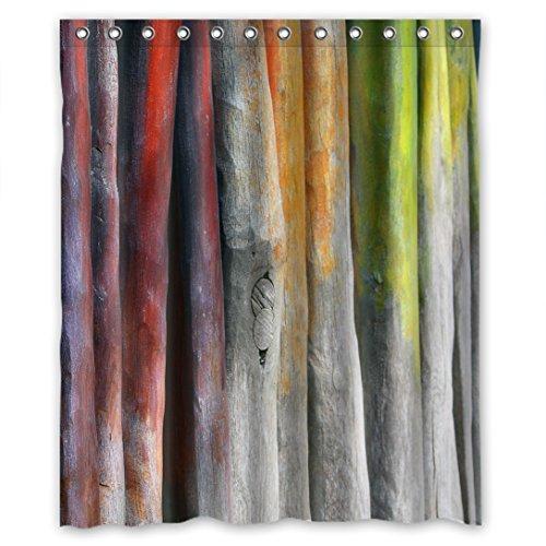 Doubee Wasserdicht Vintage Holz Wood Flegeleicht Polyester Duschvorhang Shower Curtain 60
