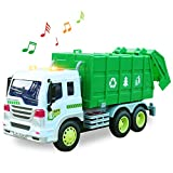 HERSITY Camion Poubelle Recyclage avec Lumière et Son Jouet de Voiture Véhicule de Collection pour Enfants