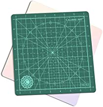 Calibre Art Rotating Self Healing Cutting Mat, Perfect for Quilting & Art Projects, 8x8 (7
