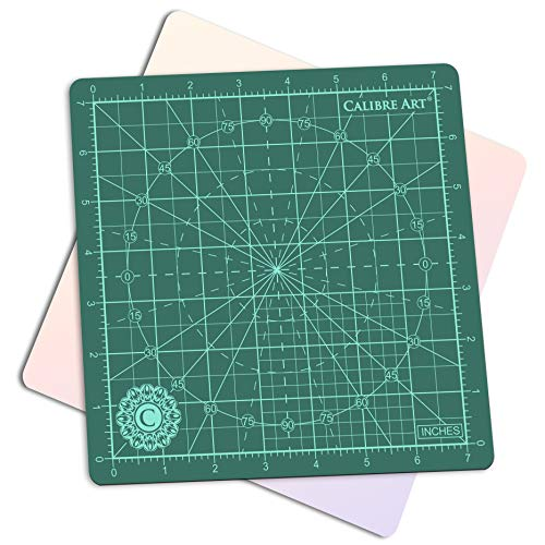 Calibre Art Rotating Self Healing Cutting Mat, Perfect for Quilting & Art Projects, 8x8 (7' grids)