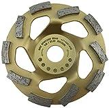 MTrade - Mola a tazza diamantata per cemento, 125/22,23 mm, Beton Turbo per smerigliatrice angolare
