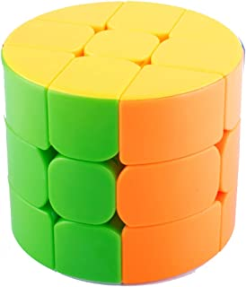 Xelparuc 3x3 Speed Magic Rubik Cube Puzzles, Cylinder Multicolor Base Ultra-Smooth Master Twist Cube, Brain Teaser Toys & Christmas Birthday Gifts ABS