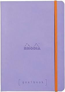 ロディア ノート Rhodiarama ゴールブック A5 ドット方眼罫 240ページ イタリア製合皮ハードカバー アイリス cf117749