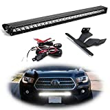 iJDMTOY Lower Grille Mount 30-Inch LED Light Bar Compatible With 2016-up Toyota Tacoma, Includes (1) 150W High Power CREE LED Lightbar, Lower Bumper Opening Mount Brackets & On/Off Switch Wiring Kit