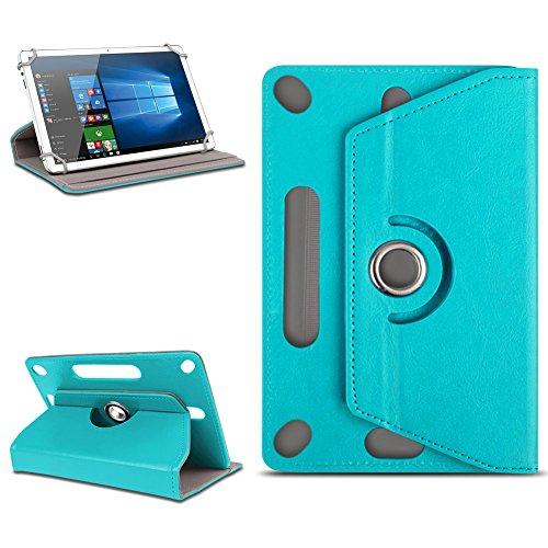Odys Score Plus 3G Universal Tablet Tasche mit Ständerfunktion Hülle Tablet von NAmobile Schutztasche Schutzhülle Stand Tasche Etui Cover Case hochwertige Optik Farbauswahl 360° drehbar , Farben:Türkis