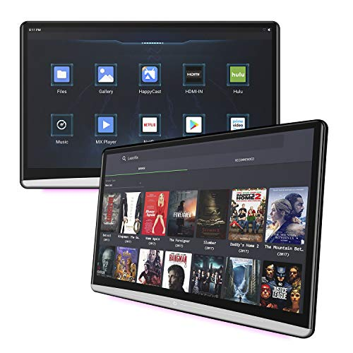 13.3 inch One Android 9.0 Car Headrest Video Player with WiFi, Sync Screen Tablets Phone Mirror Car Back Seat TV Monitors,Support Netflix YouTube HDMI in Out Bluetooth