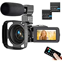 Actitop HD Video Camera with Microphone Lens Hood