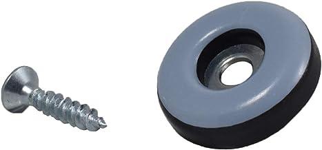 GLEITGUT 16 x teflon glijders om te schroeven, rond 22 mm, PTFE meubelglijders, 5 mm dik.