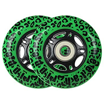 GREEN CHEETAH Wheels for RIPSTICK ripstik wave board ABEC 9 76MM 89A OUTDOOR Model  DECK