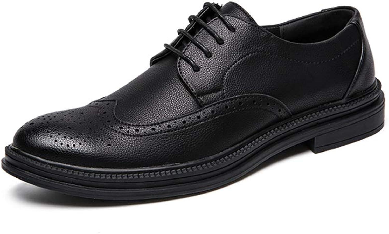 Herrenmode Oxford Casual Comfort Lace Up Klassische Geschnitzte Laufsohle Brogue Schuhe,Grille Schuhe (Farbe   Schwarz, Größe   44 EU)    Exquisite Verarbeitung