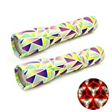 GloFX Classic Kaleidoscope Toy - 2 Pack - Educational Toy for Kids - Children Birthday Party Favor Gift - Prism Optical Light Toy