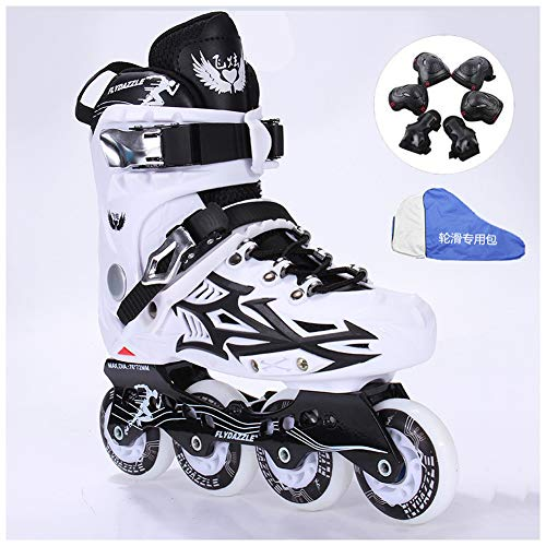 Buy Discount YXYLD Inline Skates for Kids and Adults,Outdoor Fitness Men and Women Inline Roller Ska...