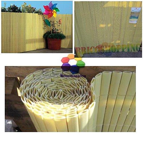 Tenda Arella In Plastica Pvc Colore Naturale Tipo bamboo Dimensione 150X300 Cm protegge la tua privacy