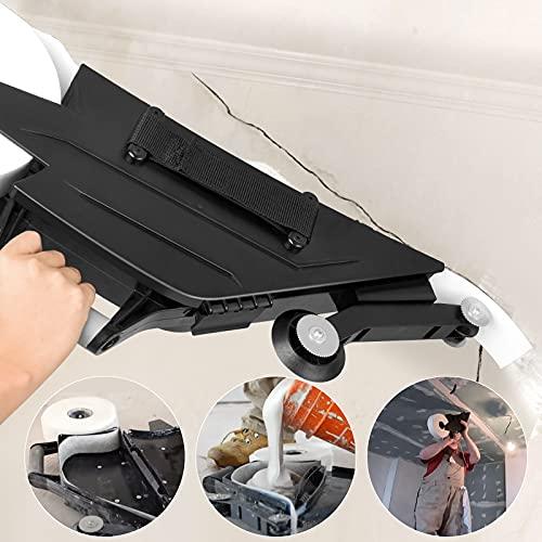 GJCrafts Herramienta para juntas de placa de yeso, Cinturón ajustable de doble asa Operación con la mano derecha/izquierda Kit de construcción de juntas de calafateo para pánel de yeso