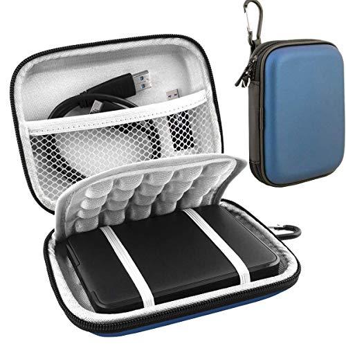 Lacdo Externe Festplattentasche für WD Elements/WD My Passport, AV TV/Ultra for Mac/WD Gaming Tragbare Externe Festplatte 500GB 1TB 2TB 3TB 4TB 5TB 2.5 Zoll Western Digital HDD Tasche, Blau