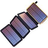 Generador Portátil Generador Inverter La energía solar Banco 20000mAh cargador solar portátil con doble salida USB 2.1A 4 paneles solares impermeable paquete de baterías for teléfonos inteligentes y t