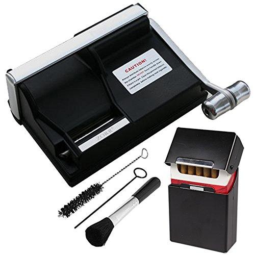 Powermatic 1 Plus Elite Zigarettenstopfmaschine inkl. 1x SEPILO® Alu Zigarettenbox sw Stopfmaschine der Extraklasse Zubehör - Powermatic I Zigarettenstopfer / Zigarettenmaschine