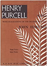 Henry Purcell Songs with Realizations of the Figured Bass RDR #8007 A Low Voice
