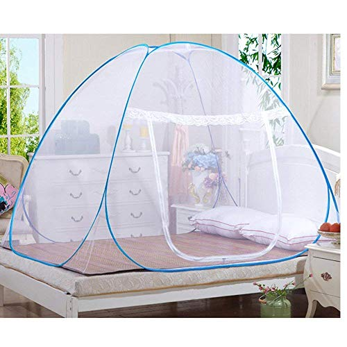 Royal Brands Instant Pop-Up Mosquito Net Tent for Beds Anti Mosquito Bites Folding Design Mesh Net Bottom Babys Adults Portable Camping (78' x 78')