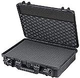 TomCase Koffer für Notebook/Laptop und Zubehör | bruchfester Hartschalenkoffer mit konfigurierbarem Rasterschaumstoff, XT465H125