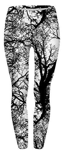 Tamskyt Damen Digital Printed Tight Leggings Super Soft Spandex Stretch Gr. One size , baum