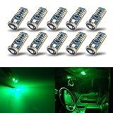 iBrightstar T10 168 194 - Bombillas LED de cuña extremadamente brillantes para interior de coche, cúpula, mapa, puerta, luz de cortesía, color verde